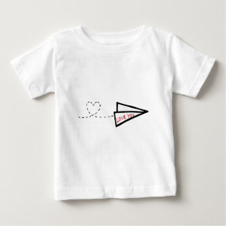 紙飛行機のラブレター ベビーTシャツ