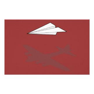 紙飛行機の過剰に活動する想像 便箋