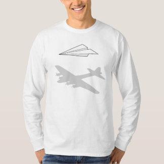 紙飛行機の過剰に活動する想像 Tシャツ