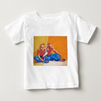 紙20x27の平野の人々油 ベビーTシャツ