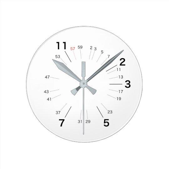 素数しか必要としない人のための壁時計 ラウンド壁時計