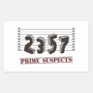 素数の容疑者 長方形シール