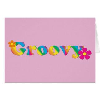 素晴しいおよび花明るい色60sのヒッピーのデザイン カード