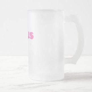 素晴しいピンクのイエス・キリスト フロストグラスビールジョッキ