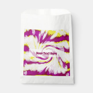 素晴しいピンクの黄色く白いTieDyeの渦巻の抽象芸術 フェイバーバッグ