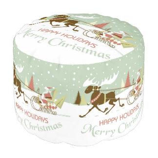 素晴しいメリークリスマスサンタ及びトナカイ プーフ