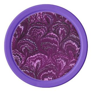 素晴しいレトロは紫色の紫色のバイオレット渦巻きます ポーカーチップ