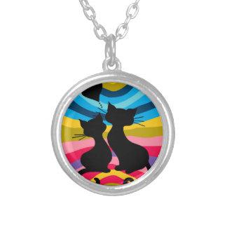 素晴しい猫 シルバープレートネックレス