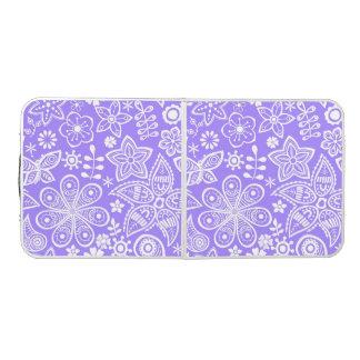 素晴しい紫色の花のデザイン ビアポンテーブル