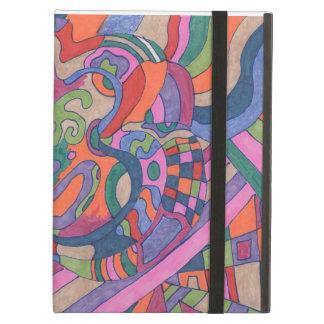 素晴しい虹、抽象芸術に乗って下さい iPad AIRケース