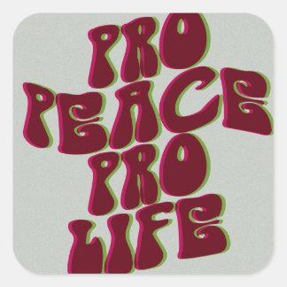 素晴しい親平和妊娠中絶反対のステッカー スクエアシール