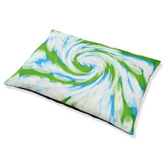 素晴しい青緑の絞り染めの渦巻 ペットベッド