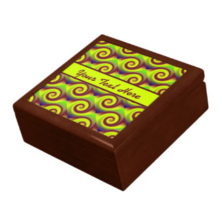素晴しい黄色ブラウンの渦巻の抽象芸術パターン ギフトボックス