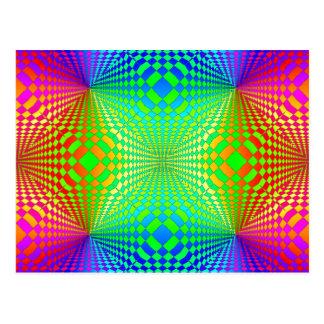 素晴しい3Dレトロパターン ポストカード