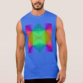 素晴しい3Dレトロパターン 袖なしシャツ