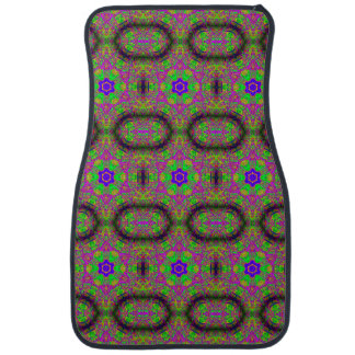 素晴しくサイケデリックな緑か紫色の花の星 カーマット