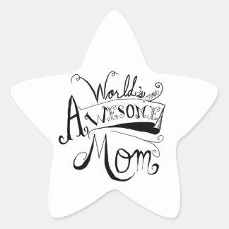素晴らしいお母さん 星シール