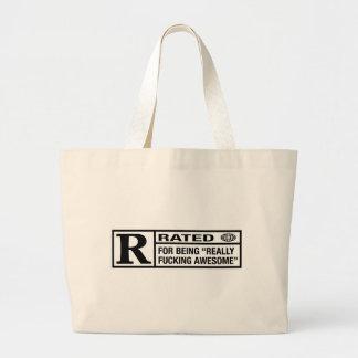 素晴らしいがあることのための評価されるR ラージトートバッグ