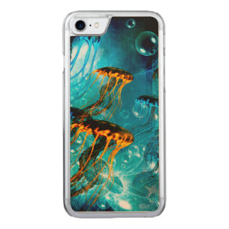 素晴らしいくらげ、水中世界 CARVED iPhone 8/7 ケース