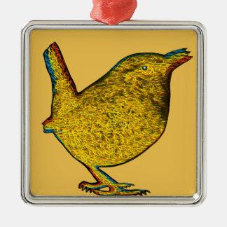 素晴らしいの黄色い鳥 メタルオーナメント