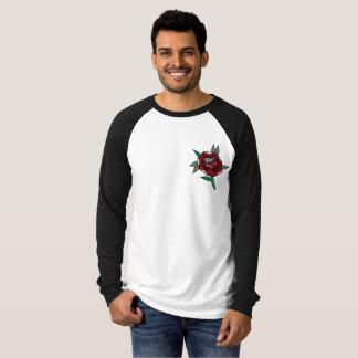 素晴らしいの//の花の野球のワイシャツ(LS)。 Tシャツ
