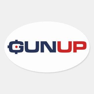 素晴らしいのGunUpのステッカー 楕円形シール