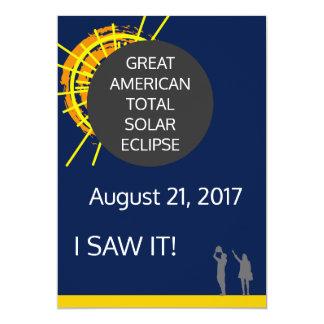 素晴らしいアメリカの日食の観測者の証明書 カード