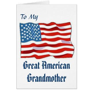 素晴らしいアメリカの祖母カード カード