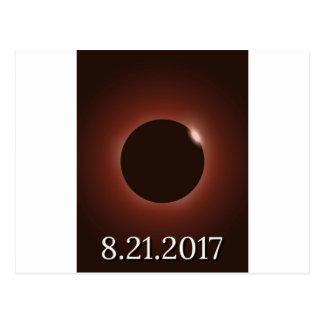 素晴らしいアメリカの総日食2017年 ポストカード