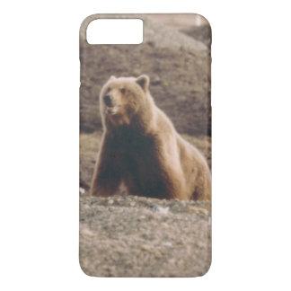 素晴らしいアラスカのツンドラハイイログマの雌豚くまの携帯電話 iPhone 8 PLUS/7 PLUSケース