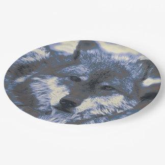 素晴らしいオオカミ ペーパープレート