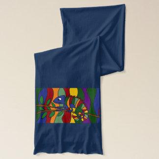 素晴らしいカメレオンの芸術のスカーフ スカーフ