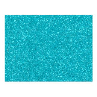 素晴らしいグリッターのPANTONEのスキューバ青 ポストカード