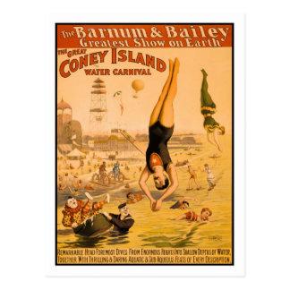 素晴らしいコニーアイランド水カーニバル2 ポストカード