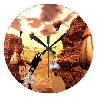 素晴らしいシャチ ラージ壁時計