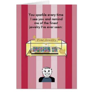 素晴らしいジュエリー-バレンタインのように光っています カード