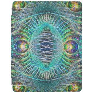 素晴らしいターコイズのフラクタルの芸術 iPadスマートカバー