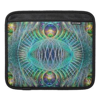 素晴らしいターコイズのフラクタルの芸術 iPadスリーブ