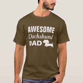 素晴らしいダックスフントのパパのワイシャツ Tシャツ