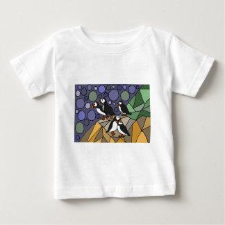 素晴らしいツノメドリの鳥の芸術の抽象芸術のオリジナル ベビーTシャツ