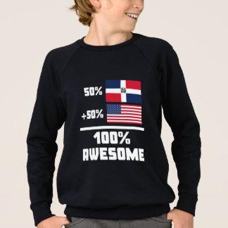 素晴らしいドミニコ共和国のアメリカ人 スウェットシャツ