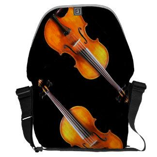 素晴らしいバイオリンかビオラのメッセンジャーバッグ クーリエバッグ