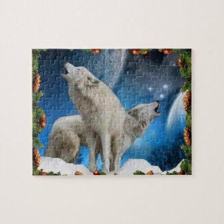 素晴らしいパズルの休日のオオカミの歌手 ジグソーパズル