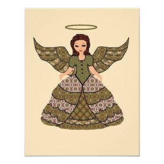 素晴らしいパッチワークの天使 カード