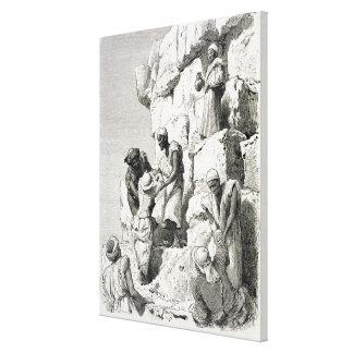 素晴らしいピラミッドの上昇、19世紀 キャンバスプリント