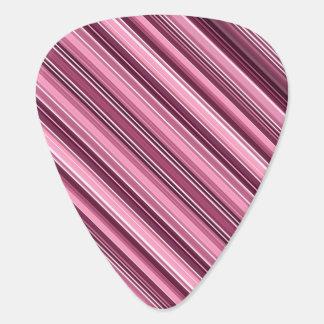 素晴らしいピンクのストライプ ギターピック