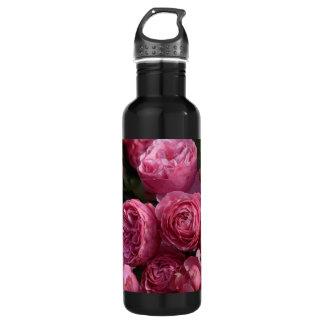 素晴らしいピンクのバラ ウォーターボトル