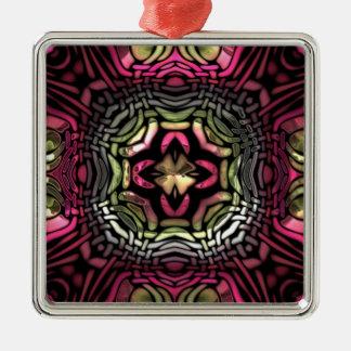 素晴らしいピンクの万華鏡のように千変万化するパターンパターン メタルオーナメント