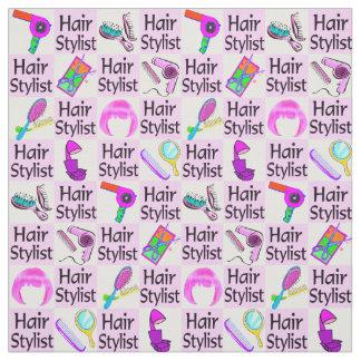 素晴らしいピンクの美容師の生地 ファブリック