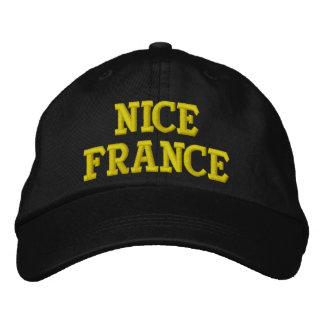 素晴らしいフランス 刺繍入りキャップ